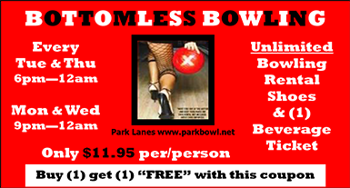 Bottomless Bowling Sales Piece